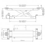 Траверса гидравлическая J5H (2,2 тонны)