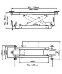 Траверса пневмогидравлическая J6А (2,8 тонны)