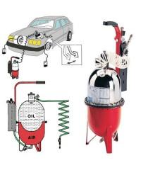 Пневматическая установка для замены тормозной жидкости