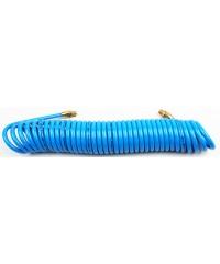 Шланг спиральный для пневмоинструмента с фитингами 15 метров